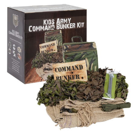 Kids Army Camouflage Military Roleplay Command Bunker Den Building Set Gift BINB